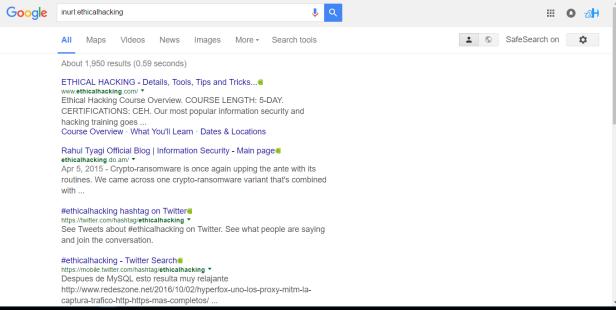 Google Hacking or Google Dorking – ZoneToHack